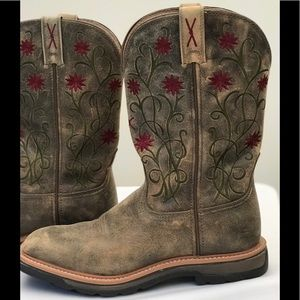 9f0f92d7245 Twisted X Floral Stitched Cowgirl Boots 8 1/2 Wide